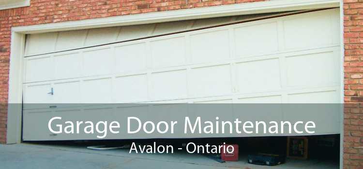 Garage Door Maintenance Avalon - Ontario