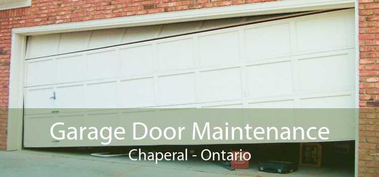 Garage Door Maintenance Chaperal - Ontario