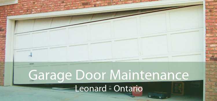 Garage Door Maintenance Leonard - Ontario
