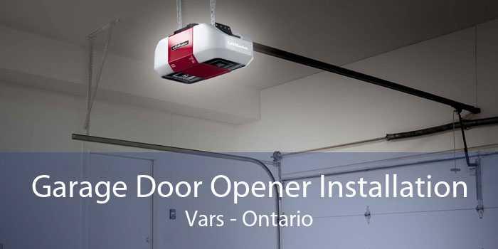Garage Door Opener Installation Vars - Ontario