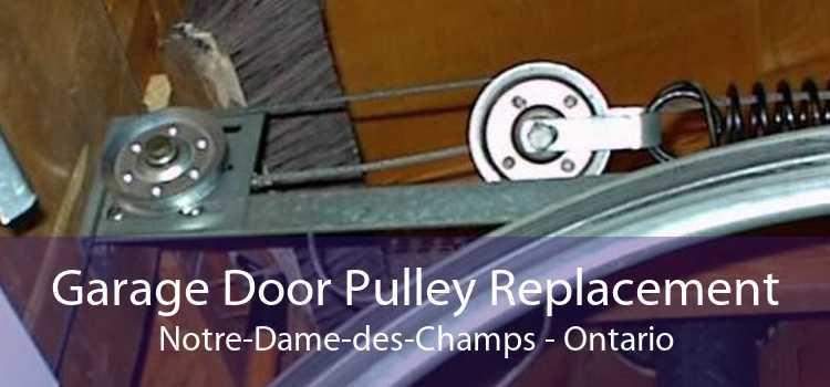 Garage Door Pulley Replacement Notre-Dame-des-Champs - Ontario