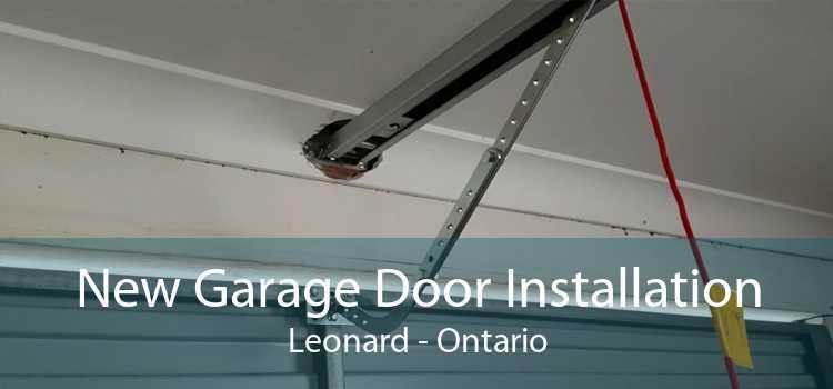 New Garage Door Installation Leonard - Ontario