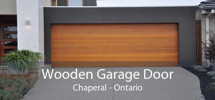 Wooden Garage Door Chaperal - Ontario