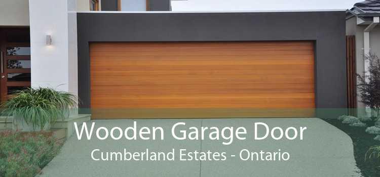 Wooden Garage Door Cumberland Estates - Ontario