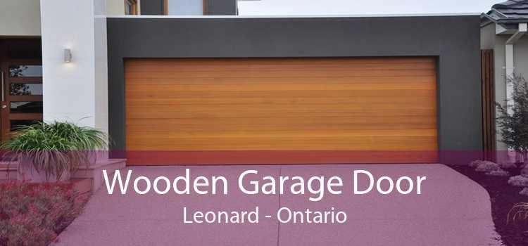 Wooden Garage Door Leonard - Ontario