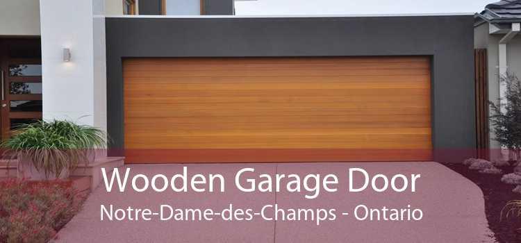 Wooden Garage Door Notre-Dame-des-Champs - Ontario