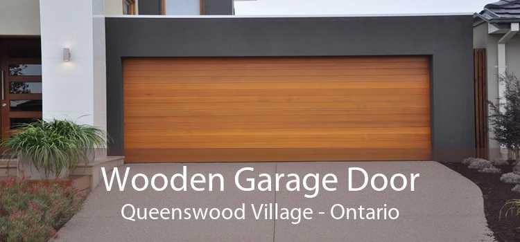 Wooden Garage Door Queenswood Village - Ontario